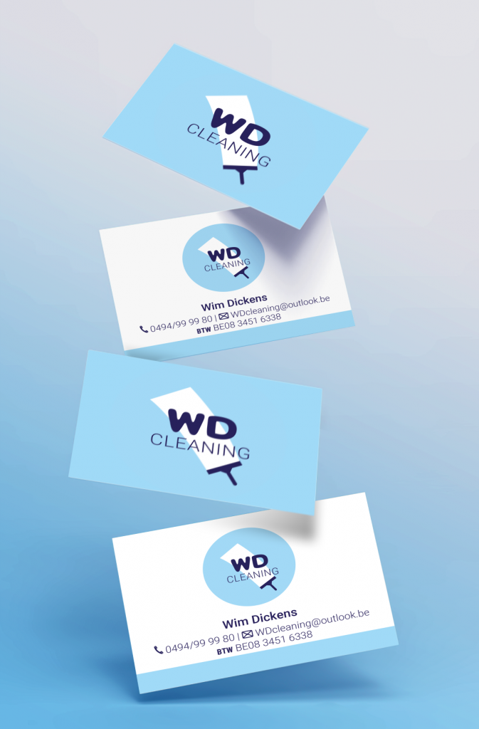 Huisstijl - WD Cleaning Business card