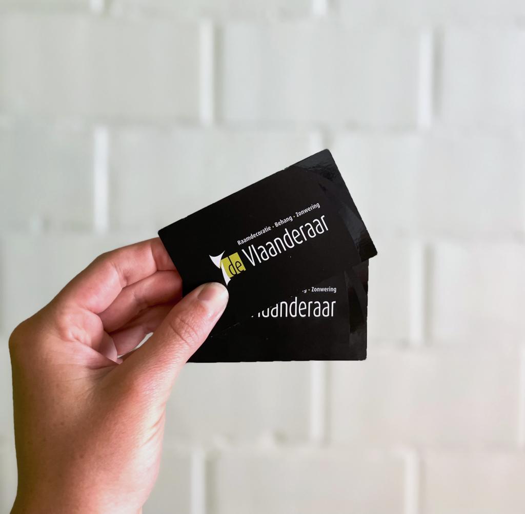 Huisstijl businesscards De Vlaanderaar